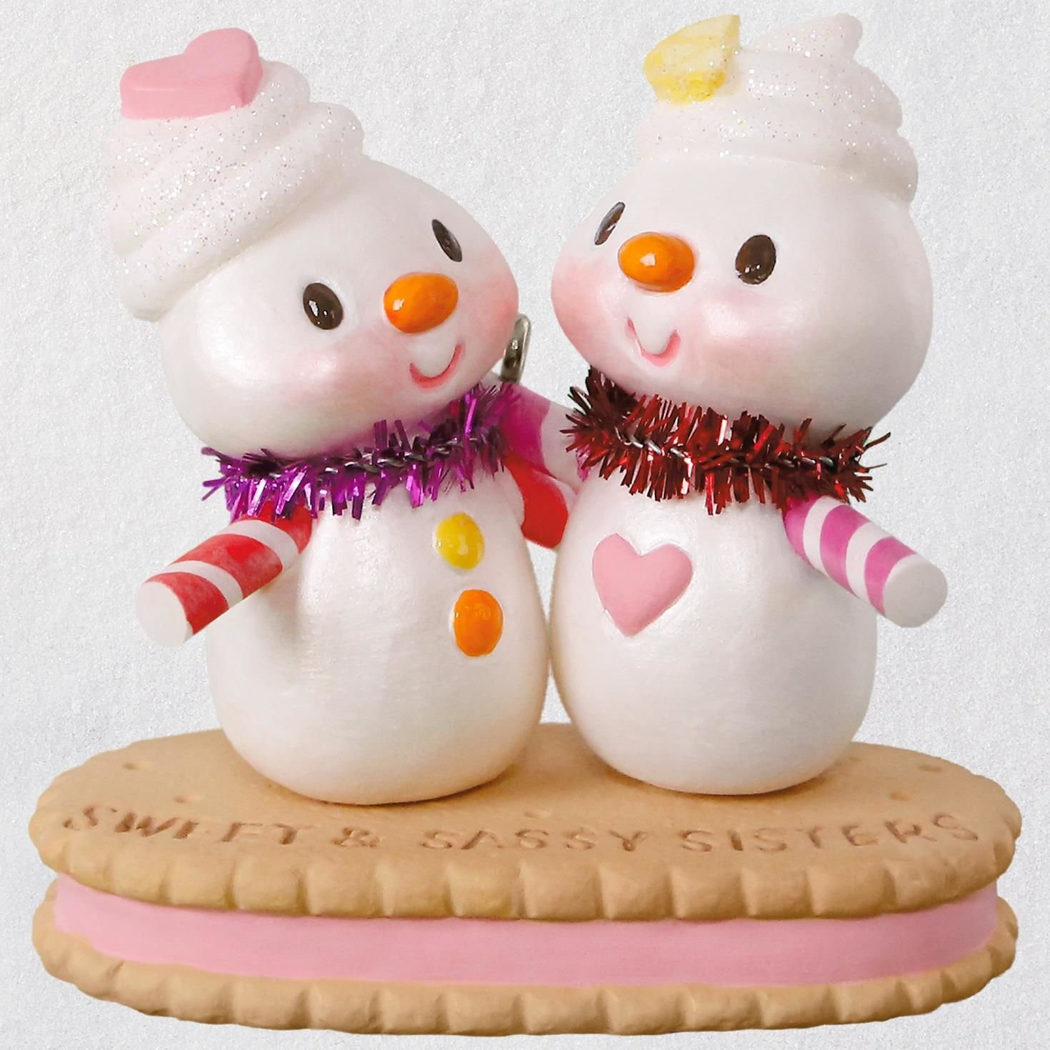 Hallmark Christmas Ornament Keepsake 2018 Year Dated, Sweet and Sassy, Sisters