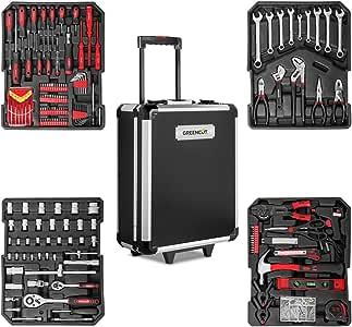 GREENCUT TOOLS819 - Set de herramientas con 819 piezas, Maleta trolley 2 ruedas y asa telescopica, Juego de Herramientas de reparación hogar Piezas Taller: Amazon.es: Bricolaje y herramientas
