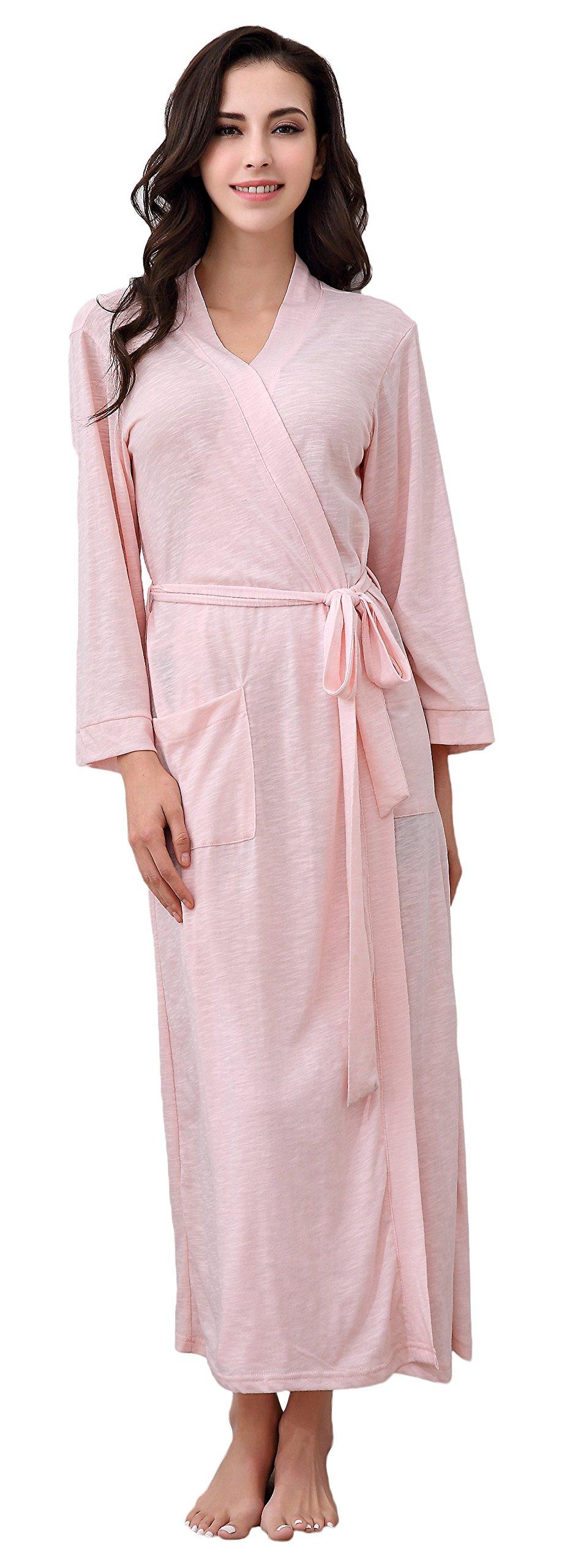 Richie House Women's Long Style Bathrobe Robe RHW2824-B-L