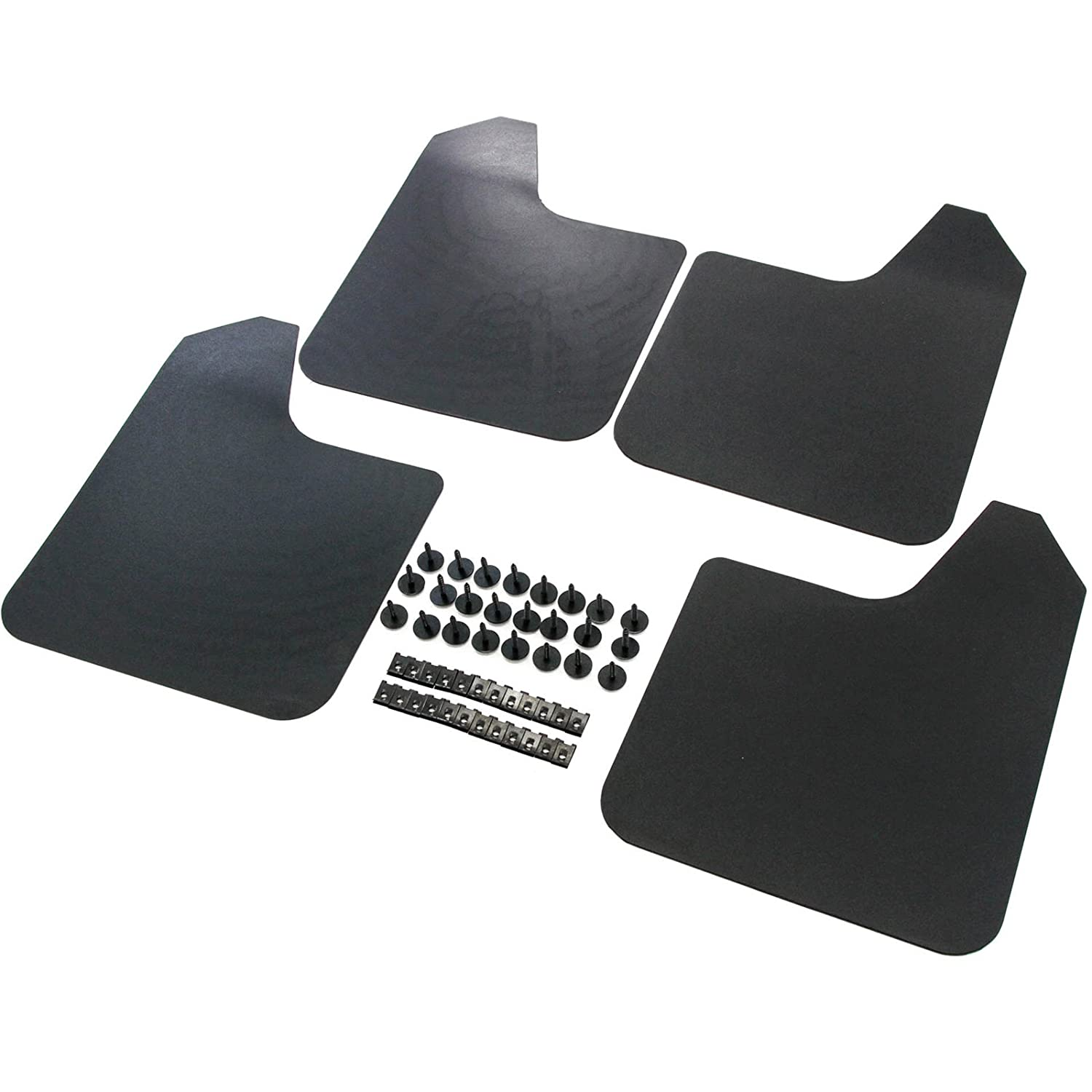 Red Hound Auto Heavy Duty Universal Mud Flaps Guards for Most Vehicles 4 Pc Set Front and Rear