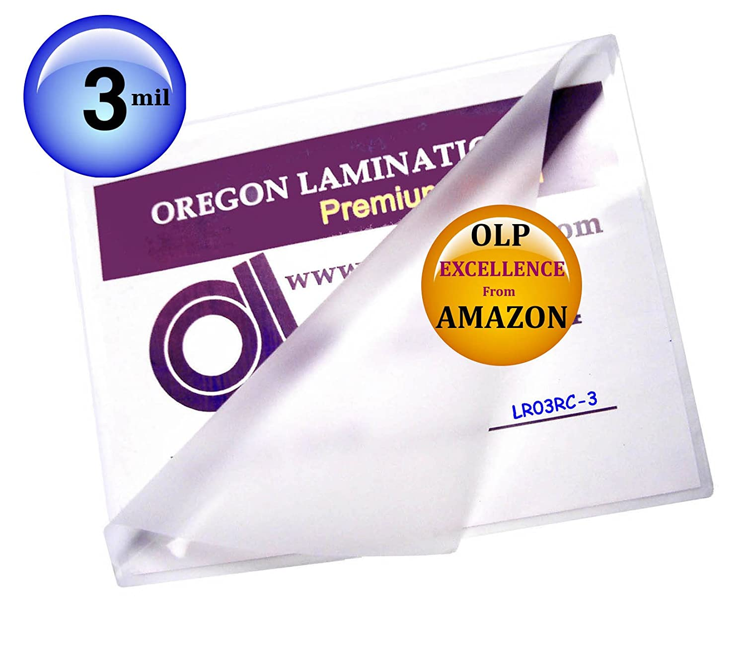 Qty 300 Letter Laminating Pouches 3 Mil 9 x 11-1/2 Hot Oregon Laminations Company LETTER 3-3