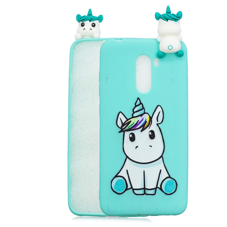 HopMore Funda para Xiaomi Pocophone F1 Silicona Motivo 3D Divertidas Unicornio Panda Bonita TPU Gel Ultrafina Slim Case Antigolpes Cover Protecci/ón Carcasa Dibujo Gracioso Peque/ño Panda