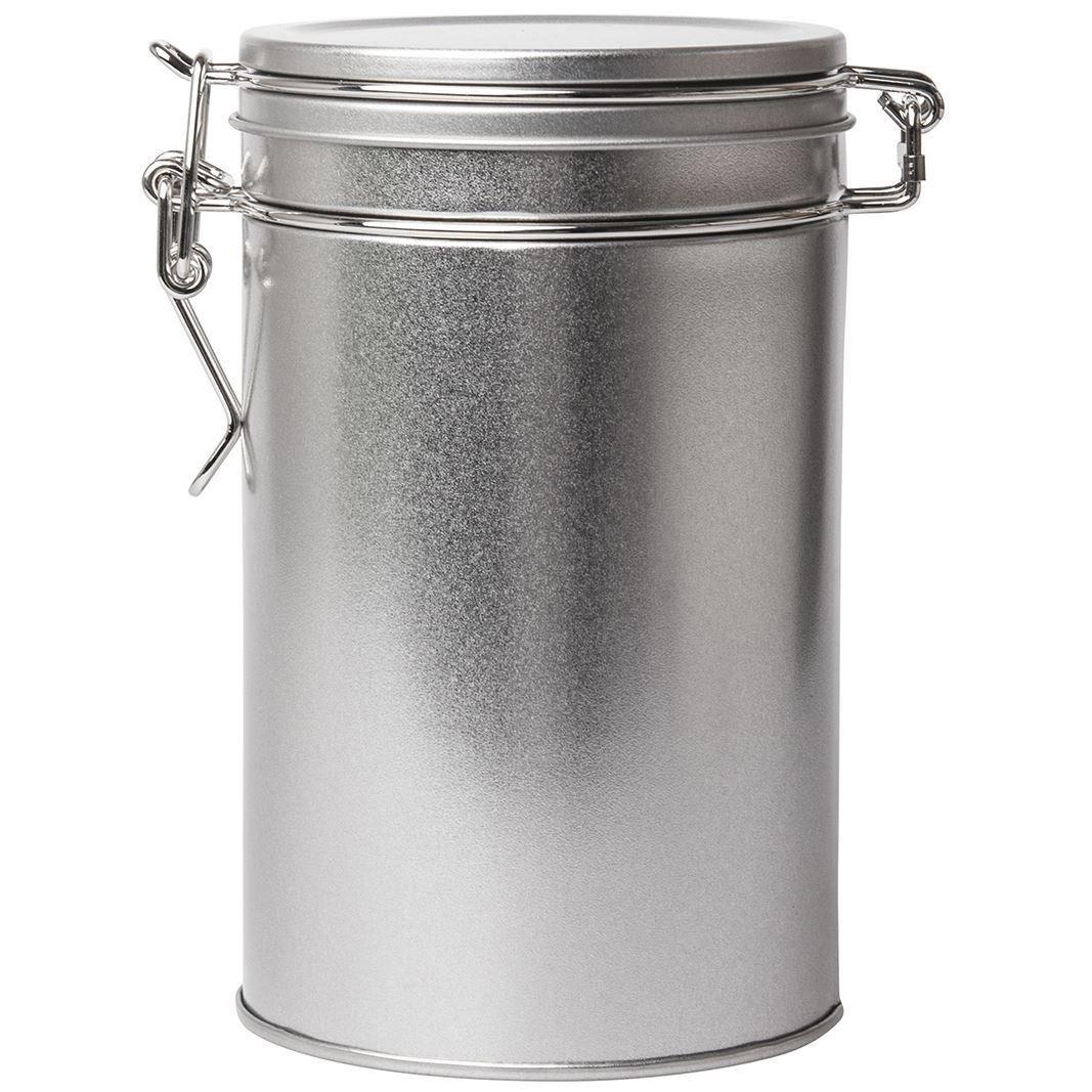 850 ml Clip redondo grande estañ o en plata | disponible en paquetes de 3 o 6 | multiusos almacenamiento –  Ideal para o té , café , especias, confiterí a, Sales de bañ o, cosmé