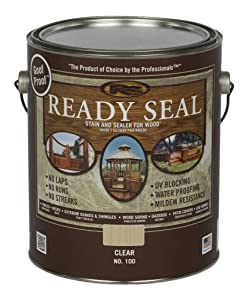 Ready Seal 100 Exterior Wood Stain and Sealer, 1 gallon, Clear