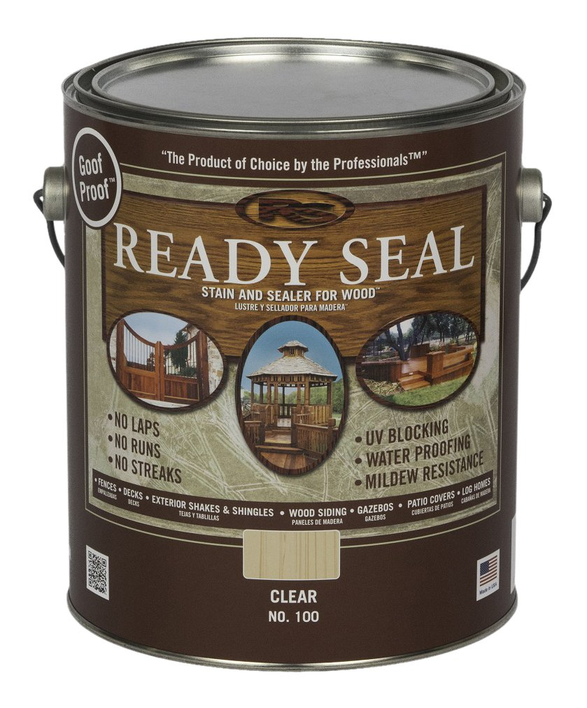 Ready Seal 100 Clear, 1-Gallon Exterior Wood Stain and Sealer, 1 Gallon,