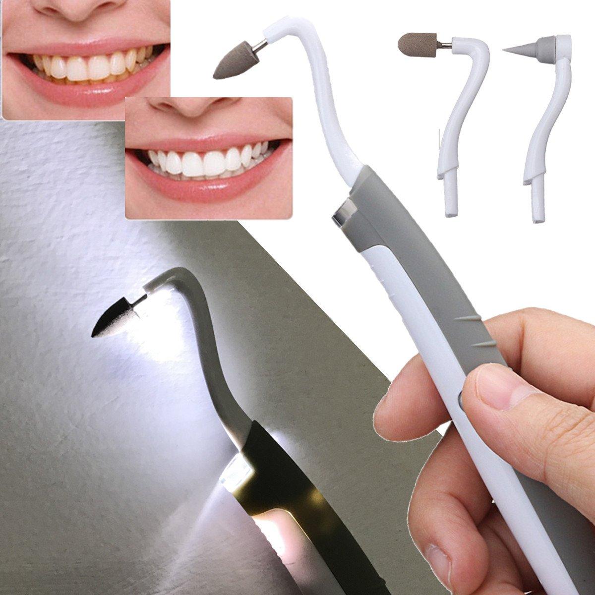 GOZAR Dientes Removedor De Placa Blanqueador Pulidor Dental Blanqueamiento Dental Placa De Pulido Quitamanchas Led Kit: Amazon.es: Hogar
