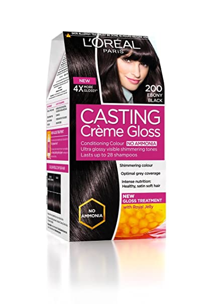 Amazon.com : L\'Oreal Paris Casting Creme Gloss, Ebony Black 200 ...