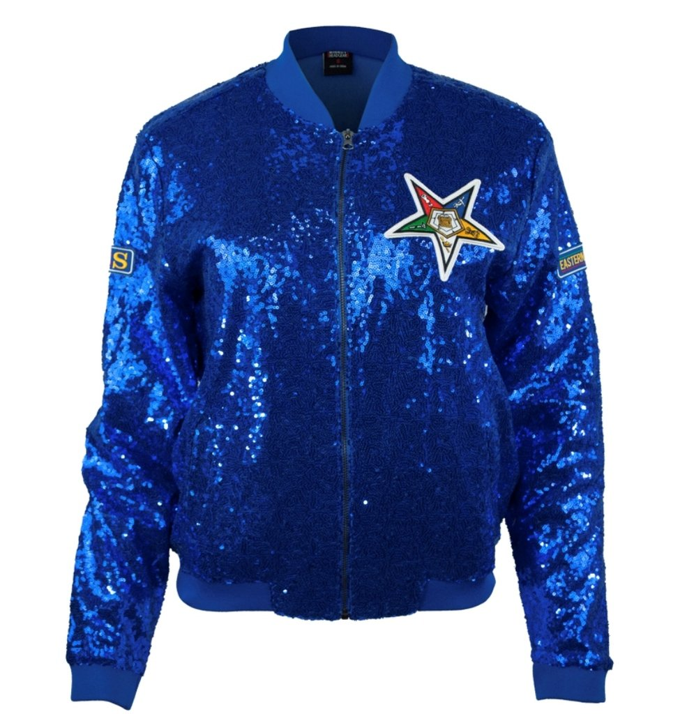 OES ''Order of the Eastern Star'' Womens New Sequence Jacket Medium Blue