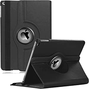 CenYouful iPad Case Fit 2018/2017 iPad 9.7 6th/5th Generation - 360 Degree Rotating iPad Air Case Cover with Auto Wake/Sleep Compatible with Apple iPad 9.7 Inch 2018/2017 (Black)