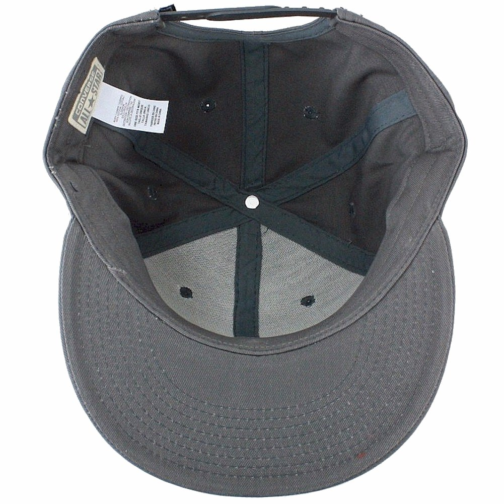 9a62d52a88d6 Converse Mens Chuck Taylor All Star Patch Snapback Flat Brim Hat Grey  CON033-GREY at Amazon Men s Clothing store