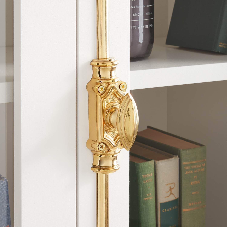 Signature Hardware 441213 Mini Barcheski 27 Inch Tall Brass Cremone Bolt Cabinet Latch