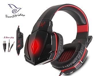 KOTION EACH G4000C estéreo sobre el oído Gaming Auriculares Gaming Headset Headband con micrófono y control