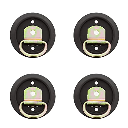12 Pack D Ring Style Mounting Tie Down Ring with Plastic Pan Mount 1200 LB Rating D Ring Tie Down Anchor Set ABN