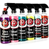 Adam's Elite 6 Pack - Our Top Selling Car Detailing Products Bundled Together - Clean, Shine & Protect Your Interior, Wheels,