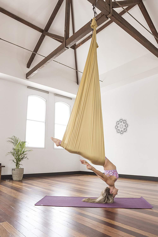 Amazon.com: Juego de columpio de yoga con antena de seda ...