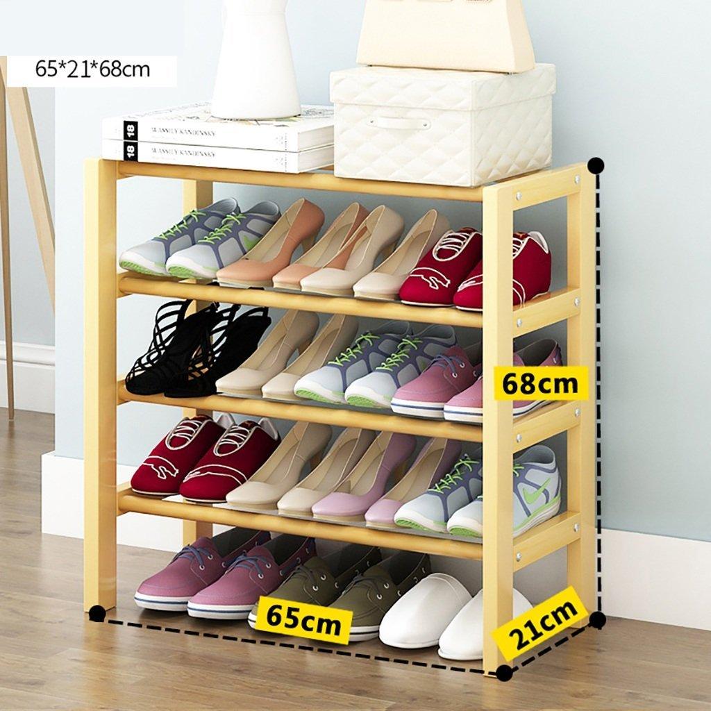 Shangxiangtrade 純木の靴の棚、折りたたみ簡単な靴の棚、家の棚、多機能の塵の靴の棚。 (サイズ : 65*21*68CM) B07TG97GZB  65*21*68CM