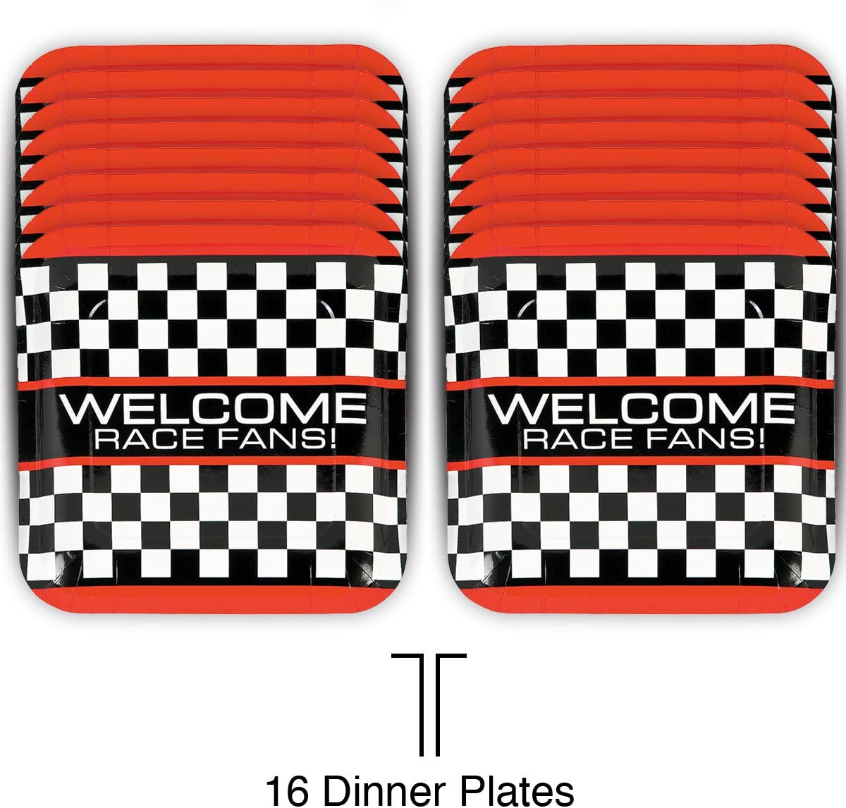 Race Car Party Birthday Racing Party Supplies Tableware Pack Bundle for 16 CSW