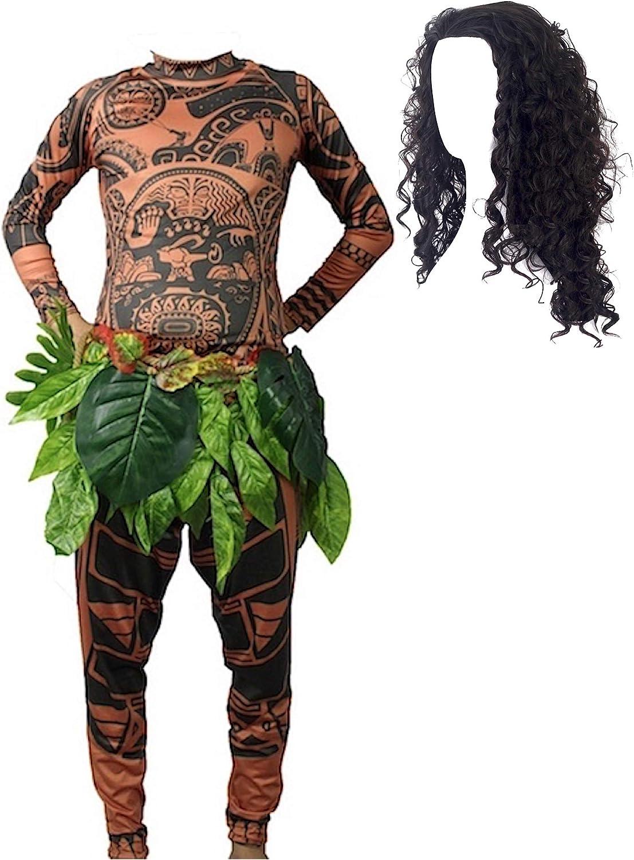 VersusModa Tipo Maui Vaiana Disfraz de Carnaval Disfraz Hombre ...