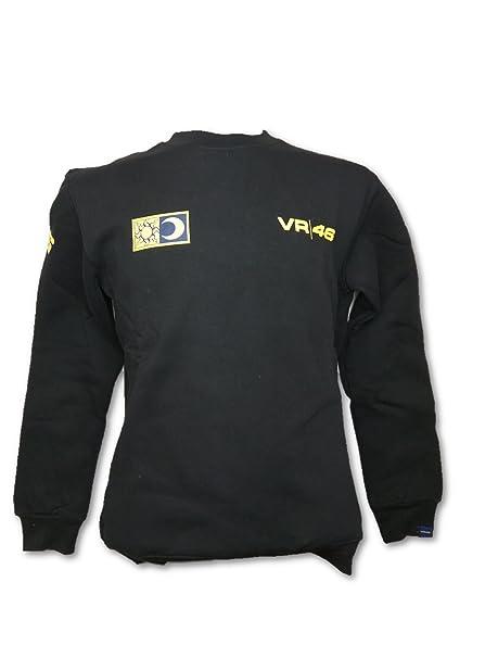 MotoGP Valentino Rossi VR46 - Sudadera de cuello redondo para hombre, color negro: Amazon.es: Deportes y aire libre
