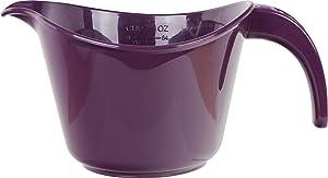 Reston Lloyd 92502 Microwave Safe Calypso Basic 2 Quart Mixing Batter Bowl, Plum