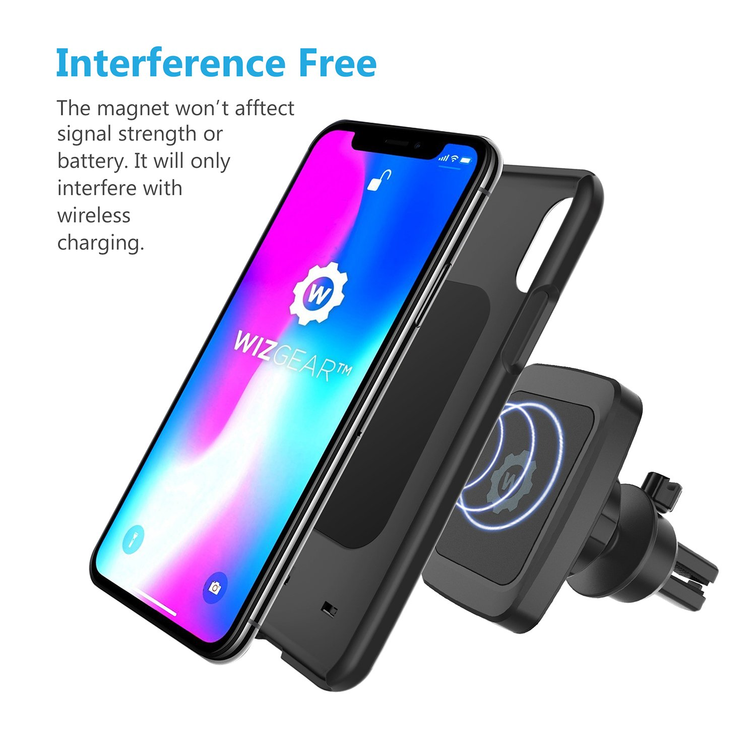 Magnetic Phone Car Mount for Cell Phones with Swift-snap Technology Magnetic car mount WizGear Universal Bite-Lock Air Vent Magnetic Phone Car Mount Holder Bite-Lock