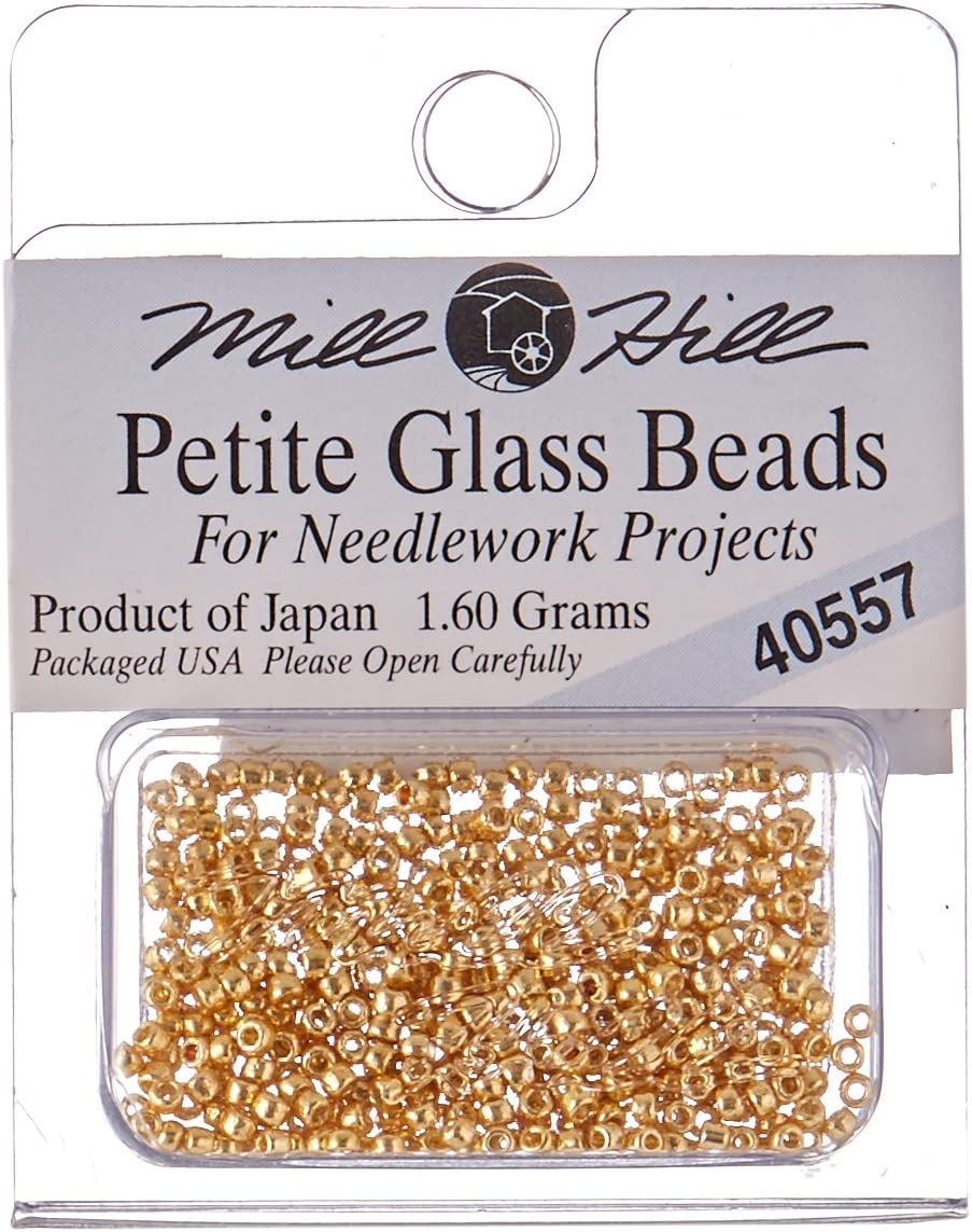 Mill Hill Mill Hill Petite Glass Seed Beads 1.60gm Gold