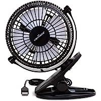 KEYNICE USB Clip Desk Personal Fan, Table Fans,Clip on Fan,2 in 1 Applications, Strong Wind, 2 in 1 Applications, Strong Wind, 4 Inch 2 Speed Portable Cooling Fan USB Powered Netbook, PC