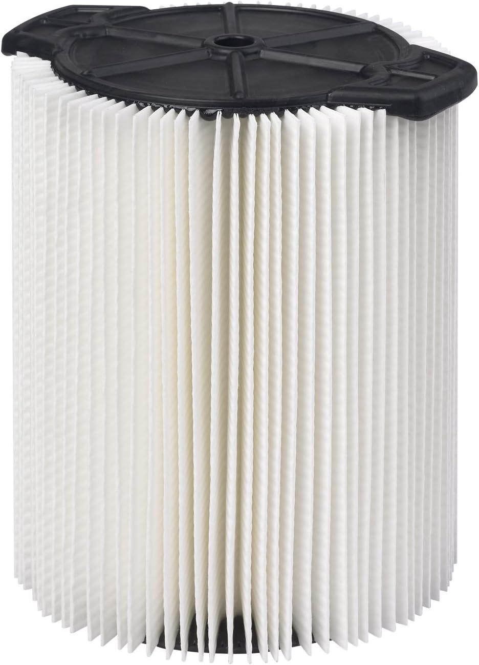 WORKSHOP Wet/Dry Vacs Vacuum Filter WS21200F Standard Wet/Dry Vacuum Filter (Single Shop Vacuum Cleaner Filter Cartridge) Fits WORKSHOP 5-Gallon To 16-Gallon Shop Vacuum Cleaners