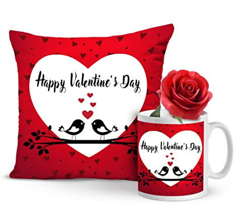 fa2eaefdf9892 Buy TIED RIBBONS Valentine s Day Combo Pack of Cushion with Filler ...