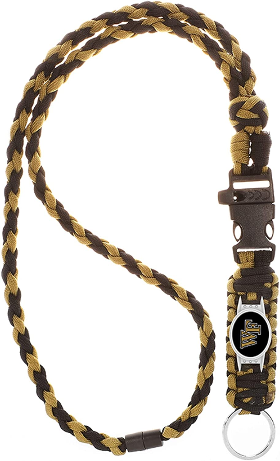 Neck Clasp Swamp Fox Wake Forest Demon Deacons Paracord Lanyard with Team Charm and Keychain Release/…