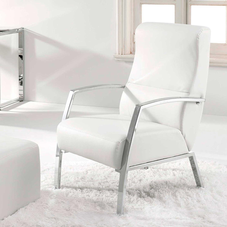 Adec - Sillon butaca tango, medidas 60 x 63 x 95 cm, color blanco crema