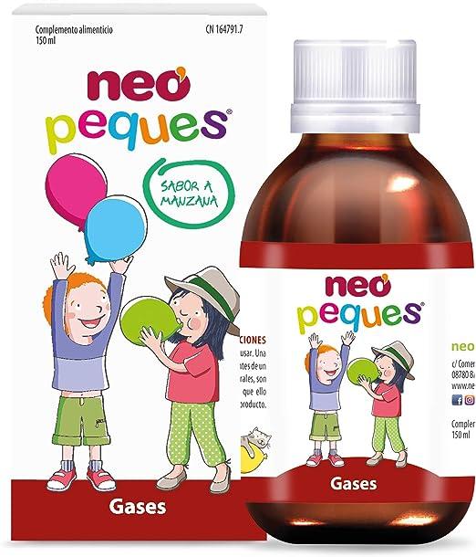 Neo Peques | Jarabe Infantil para Niños Gases 150ml | Con Manzanilla, Hinojo, Anís Verde y Alcaravea | Tomar 0,5 ml/kg de Peso Corporal | Dosis Diaria ...
