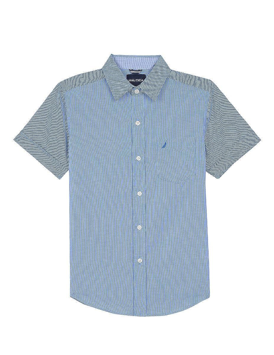 Amazon Nautica Big Boys Short Sleeve Gingham Woven Shirt Clothing