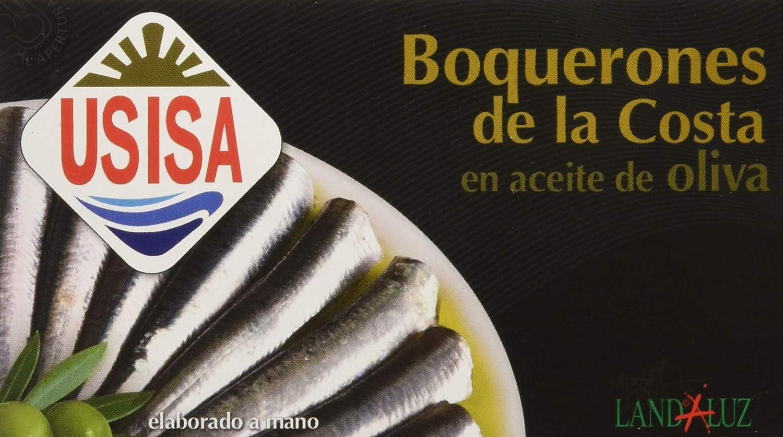 Usisa - Conserva de Pescado| Boquerones en Aceite de Oliva - 5 Latas x 120 g