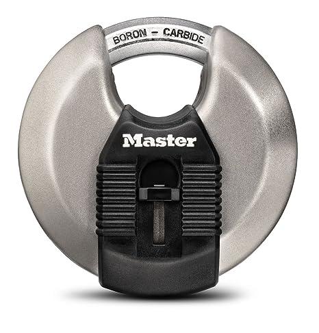 979cf1bf62bc Master Lock Padlock, Magnum Stainless Steel Discus Lock, 3-1/8 in. Wide,  M50XD