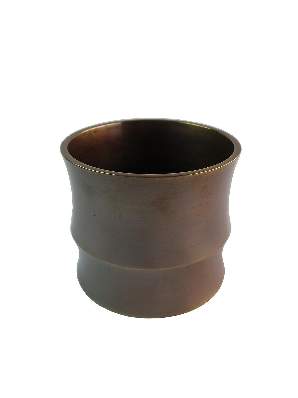 竹中銅器 銅製花瓶 ASIWAI TAKE-GATA(竹形) 鍋長色 84-58 B015JB7VS8 鍋長色