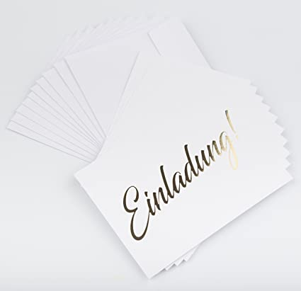 Tarjeta De Invitación Oro 10 Unilateral Con 10 Tarjetas Y