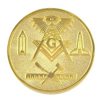 Commemorative Masonic Symbols Gold Plated Coin
