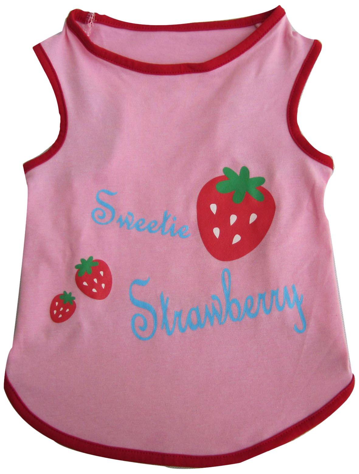 Iconic Pet Pretty Pet Top, Medium, Pink/Strawberry