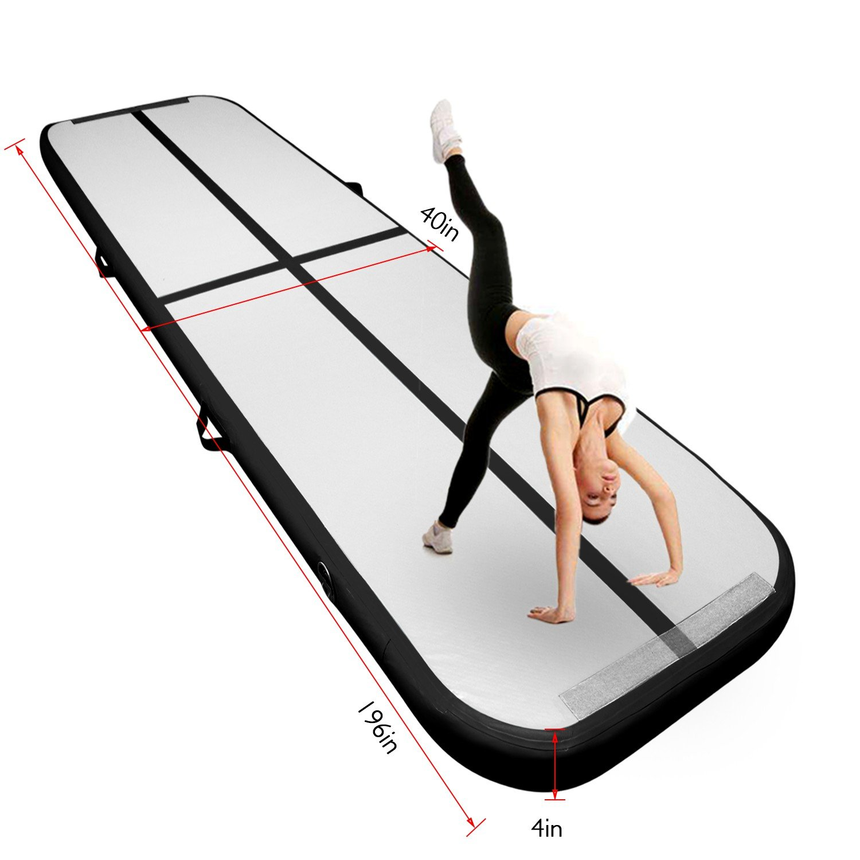 Fbsport Airtrack Inflatable 4M/5M/6M Longueur Tapis Gonflable De Gymnastique Tumble Piste d¡¯Air Gonflable en pour Gymnastique, Air Tapis de Sol pour Maison, Pique-nique, Exercice, Pom-pom Girl