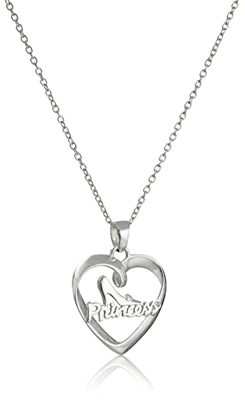 Amazon disney sterling silver heart with princess and glass disney sterling silver heart with princess and glass slipper pendant necklace 18quot aloadofball Choice Image