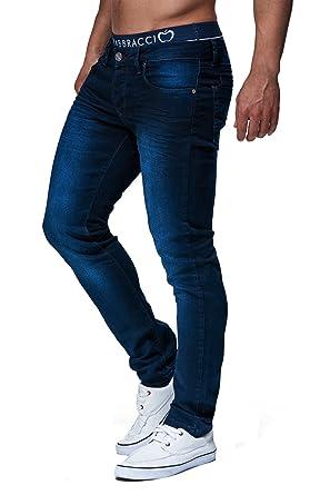 LEIF NELSON Herren Hose Jeans Stretch Basic Jeanshose Freizeithose Denim  Slim Fit Chinos Cargo Jogger Jeans Skinny LN303  W38L34, Blau  Amazon.de   ... a6ed554bd7