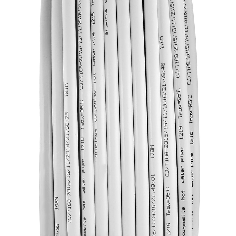 Mophorn PEX Tubing PEX AL PEX Tuber/ía 1//2 Inch 1.27cm por 656FT 200M Tube Coil Calor Radiante Port/átil PEX Para Agua Caliente y Fr/ía Aplicaci/ón de Fontaner/ía