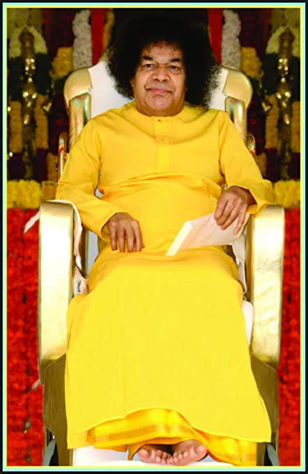 Samriddhi Sathya Sai Baba Vinyl Pvc Religious Picture Laminated
