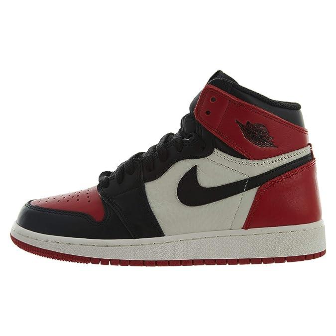 new product 6e48b 5e71f Air Jordan 1 Retro High OG BG (GS)  BRED Toe  - 575441-610 - Size - 5.5Y -   Amazon.es  Zapatos y complementos