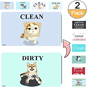 "3.2"" X 2"" Clean Dirty Magnet Dishwasher Flip 2 pack 