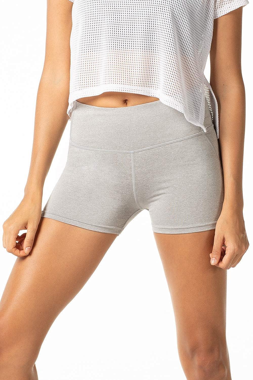 TALLA XS (Cintura 64-70 cm, Cadera 72-82 cm). LAPASA Pantalón Corto Deportivo para Mujer (Running, Fitness, Estiramiento) L09