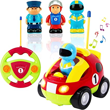 Amazon Com Liberty Imports My First Cartoon Rc Race Car Radio Remote Control Toy For Baby Toddlers Children Toys Games