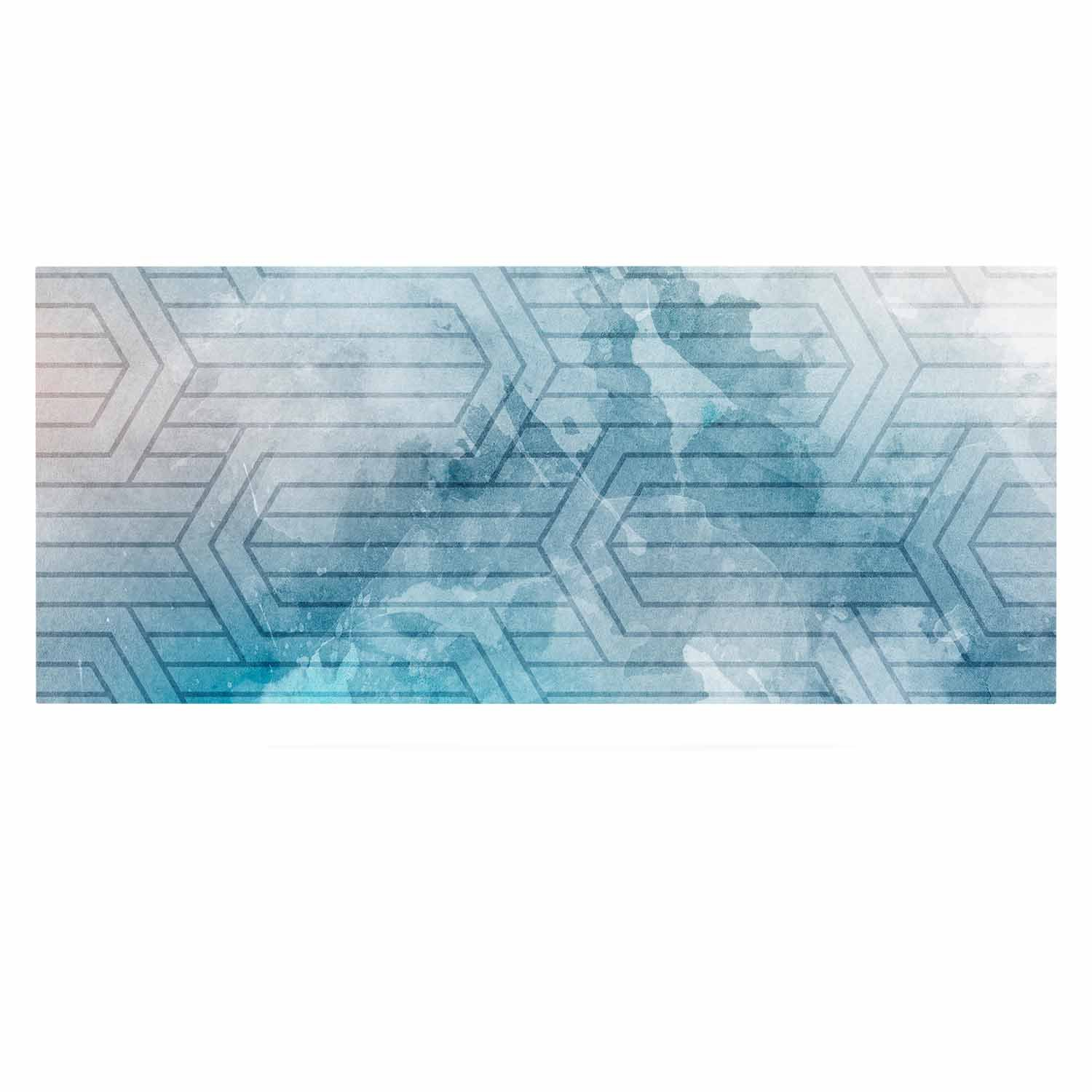 24 x 36 Kess InHouse Matt Eklund Frost Labyrinth Blue White Luxe Rectangle Panel