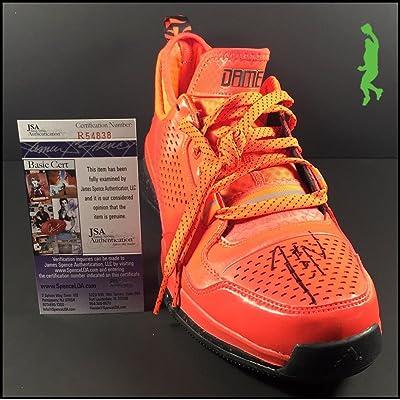 678f9f83ef26 Autographed Damian Lillard Signed Adidas Shoe Sneaker - JSA Certified